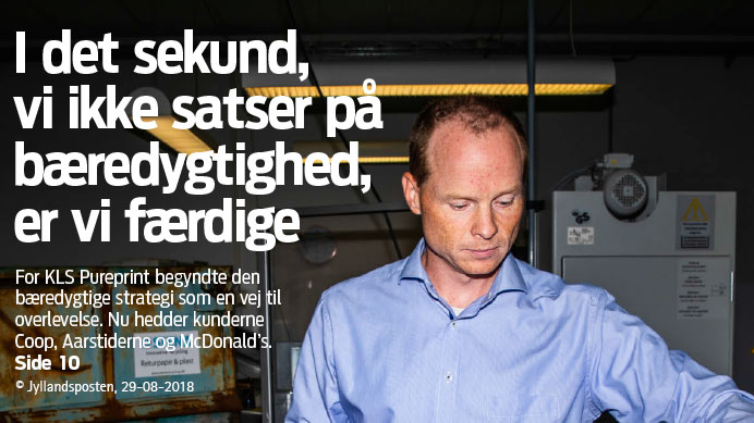 Jyllands Posten published a big article about KLS PurePrint